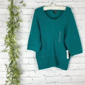 a.n.a. diamond knit chunky oversize sweater M NWT